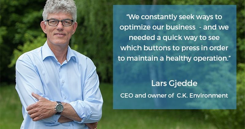 Photo of Lars Gjedde, CEO and owner of C.K. Environment