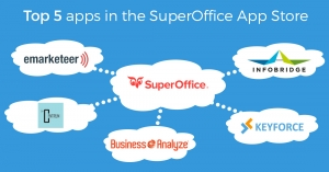 Logos of top 5 SuperOffice apps