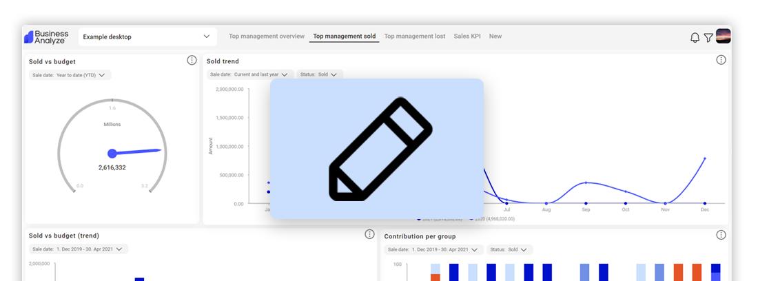 Design dashboards with Business Analyze